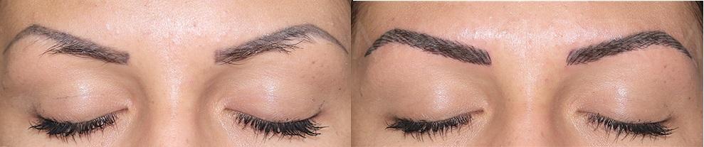 Исправление ошибок макияжа бровей
