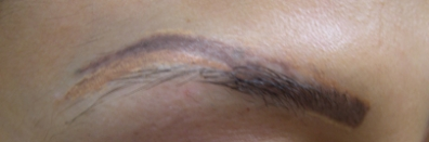 Ошибки при выполнении татуажа бровей